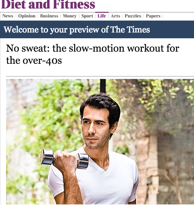 No sweat: the slow-mo workout for the over 40s (The Times)